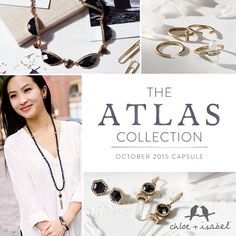 Black Jewelry = sophistication and versatility. Check out the new Atlas collection here: www.chloeandisabel.com/boutique/mariarosazenk