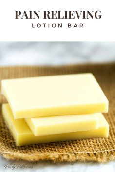 Clever Solution for Pain Relief: Pain Relieving Lotion Bar - Wendy Polisi (Back Pain Essential Oils) Diy Savon, Savon Soap, Diy Lotion, Lotion Bars, My Essential Oils, Homemade Beauty Products, Natural Products, Soap Recipes, Weed Recipes
