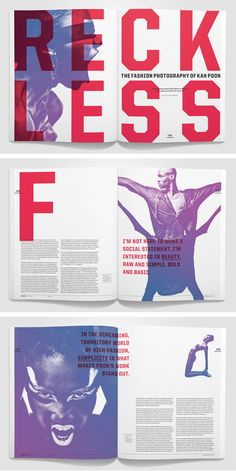 Spread is a magazine that features artists who change the cultural landscape through provocative, inspiring, fresh, and original work. Through clean, over-sized typography, I wanted to emphasize the content, which is often more important than the aesthetics of contemporary art. student project. SLC AIGA 100 show award winner.