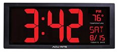 AcuRite Extra Large LED Clock with Indoor Temperature Large Digital Clock, Digital Wall, Digital Alarm Clock, Led Wall Clock, Wall Clocks, Cord Storage, Desk Shelves, Easy Wall, 5 D