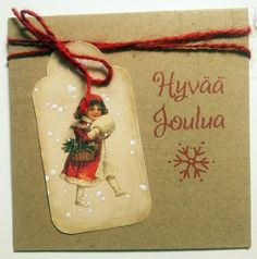 Joulukortti Christmas Ornaments, Holiday Decor, Home Decor, Decoration Home, Room Decor, Christmas Jewelry, Christmas Decorations, Home Interior Design, Christmas Decor