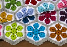 Ravelry: Project Gallery for Modern Blanket of Flowers pattern by Julie Yeager