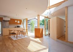 house in Shiga, Japan, Japanese architects, organic architecture, sculptural architecture, timber, timber frame, wooden architecture, Tsuyoshi Kawata