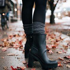 5e71d284b6 I wan t those Hunter heels rain boots