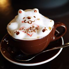 Coffee Latte Art, Tea Time, Wedding Cakes, Tableware, Recipes, Food, Art 3d, Wedding Gown Cakes, Dinnerware
