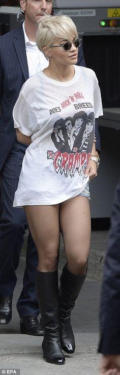 Rita Ora smiles after stealing Chanel's Paris catwalk show #dailymail