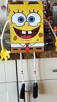 Sinterklaas surprise met de titel: SpongeBob surprise Spongebob Square, Square Pants, Bobe, Valentine Box, Hobbit, Tweety, Ideas, The Hobbit, Thoughts