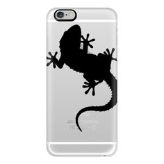 iPhone 6 Plus/6/5/5s/5c Case - Cute Gecko - Lizard - Silhouette ($40) ❤ liked on Polyvore featuring accessories, tech accessories, iphone case, iphone cover case, slim iphone case and apple iphone cases