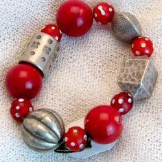 armband_01_017 Beaded Bracelets, Jewelry, Fashion, Semi Precious Beads, Handmade, Wristlets, Schmuck, Gifts, Moda