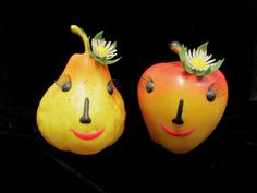 2 Reliance Alice Apple Pear Bank Set by retrogal415 on Etsy