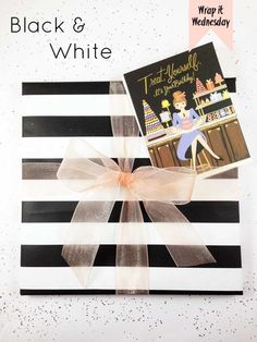 Gift Wrap It Wednesday--wrapping tips and tricks: Black and White Stripes by Gold Standard Workshop