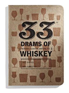 Whiskey Tasting Journal - 33 Books Co.