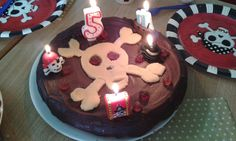 Gâteau d'anniversaire pirate (vegan)