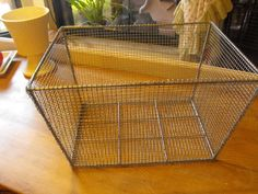 Homemade Vintage Locker Inspired Basket with hardware cloth - from: It's Just Me