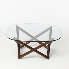 "Spindle Coffee Table | west elm 36""w x 36""d x 16.25""h."