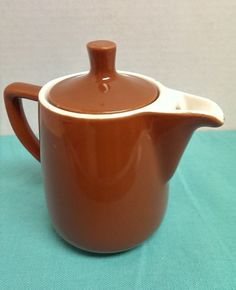Vintage Brown Porcelain MELITTA 1 cup Coffee Pot Creamer