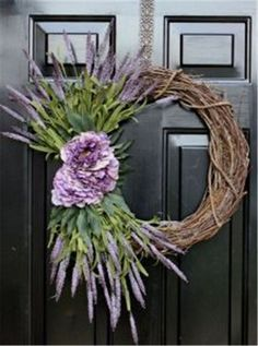 Mother's Day Wreath Summer Wreath Spring Wreaths by OurSentiments Wreath Crafts, Diy Wreath, Door Wreaths, Diy Crafts, Tree Crafts, Wreath Ideas, Grapevine Wreath, Holiday Wreaths, Christmas Tree Decorations