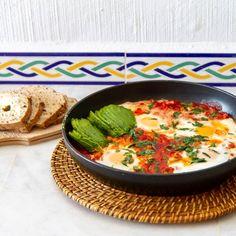 Shakshuka med chorizo #shakshuka Chorizo, Ethnic Recipes, Food, Meals, Yemek, Eten