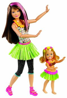 Amazon.com: Barbie Sisters Hula Dance Skipper and Chelsea Doll 2-Pack: Toys & Games