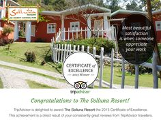The Solluna Resort has won Certificate of excellence three time in row from 2013 to 2015 on Tripadvisor smile emoticon #Jimcorbett #sollunaresort #resortsincorbett #Tripadvisor