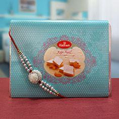 Something Sweet @ http://www.rakhibazaar.com/rakhi-with-sweets-3.html #Rakhibazaar #OnlineRakhi #Shopping