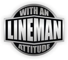 334eb99f32a Lineman With An Attitude Hard Hat Decal - Helmet Sticker Label Power Lines  Lineman Hats