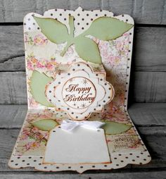 Lovely Funky Label card by Pia Baunsgaard. Crafting ideas from Sizzix UK: Happy birthday