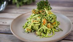 Zucchini Noodles with Avocado Pesto | Good Chef Bad Chef