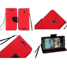 Insten Premium Stand Flip Folio Leather Wallet Phone Case for HTC Desire 510 #2008548