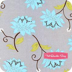 <3 <3 <3 Seaside Cottage Gray Large Floral Yardage SKU# 5884-99 - Fat Quarter Shop