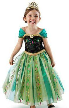 Anna Dress With Cap. Frozen Disney, Ana Frozen, Princess Flower Girl Dresses, Dresses Kids Girl, Princess Costumes, Girl Costumes, Pageant Dresses, Formal Dresses, Party Dresses