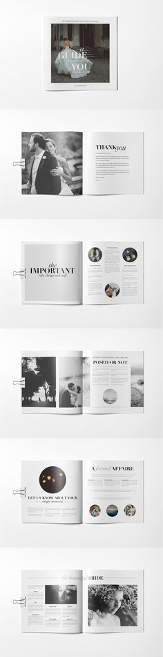wedding photographer magazine guide brochure
