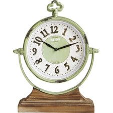 Sage Table Clock