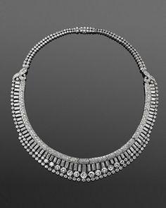 Art Deco Diamond Necklace, French, circa 1920s