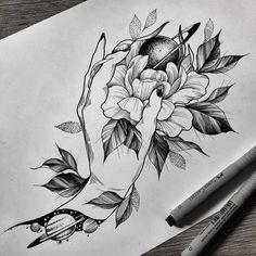 Mini Tattoos, Dog Tattoos, Flower Tattoos, Tattoo Designs For Women, Tattoos For Women, Tattoo Sketches, Tattoo Drawings, Art Inspired Tattoos, Astronaut Tattoo