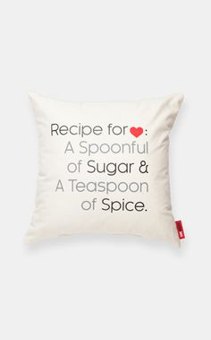 Cute! Recipe for Love Cream Muslin Throw Pillow