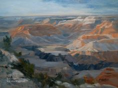 Grand Canyon Oil Painting – Sculpted by Time – Yavapai Point – by Karen Winters | The Creative Journey