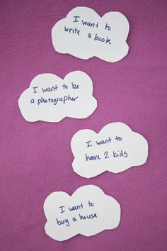Invite your child to craft dream cloud magnets to display her hopes and visions for the future!
