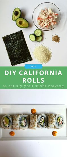 How to DIY a California Roll When You're Craving Sushi But a Broke Student California Roll Recipes, California Roll Sushi, California Food, How To Make California Rolls, Sushi Recipes, New Recipes, Favorite Recipes, Asian Recipes, Chicken Sushi