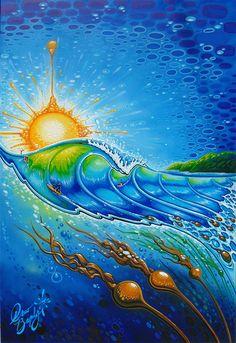 Drew Brophy Signature Style Art - Drew Brophy - Surf Lifestyle Artist