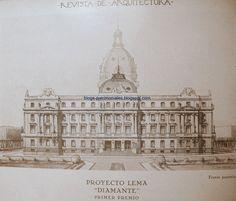 Arquitectos Franceses en Argentina: Catálogo on line de sus obras: Arquitectos Paul E. Pater y Alberto Morea / Prov. de Mendoza / Mendoza / Casa de Gobierno ( Proyecto)