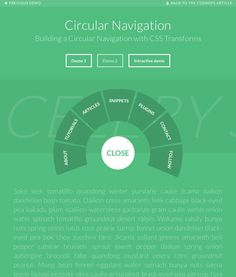 A tutorial on how to create a circular navigation using CSS transforms