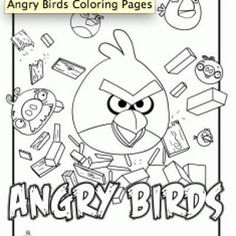 angry birds to color