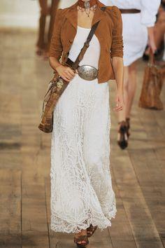 Ralph Lauren Collection - Vivian Crocheted Cotton Skirt