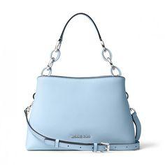 621e2c70d879 MICHAEL Michael Kors Portia Saffiano Leather Shoulder Bag Sky Blue