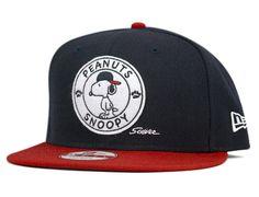 337f49516cfd0 Snoopy Badge 9Fifty Snapback Cap by PEANUTS x NEW ERA Hat World