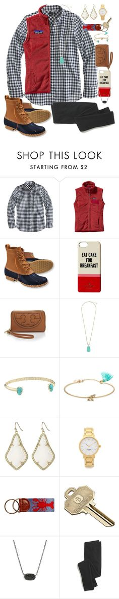 """follow my vsco! @olivianic02"" by theyoungprepster ❤ liked on Polyvore featuring J.Crew, Patagonia, L.L.Bean, Kate Spade, Tory Burch, Kendra Scott, Lonna & Lilly, Baldwin and Madewell"