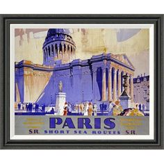 Global Gallery 'Paris, Southern Railway' by Griffin Framed Vintage Advertisement Size: