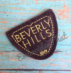 Beverly Hills Embroidery Feltie Applique Design by EmbroiderThat, $4.50