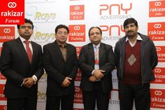 """Muhammad Javed Iqbal, RAKIZAR; Mr. Shahid Mehmood, ConnecTel; Mr. Fawad and guest on """"3rd RAKIZAR Forum"""" on """"Building a Winning Team"""" in collaboration with PNY Advertising and Rays Training held on Wed., Feb. 26, 2014   Event's Detail https://www.facebook.com/events/492053977581380/"""